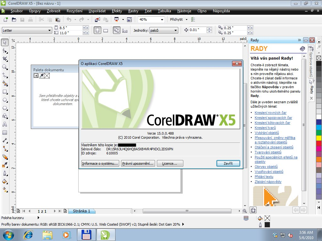how to install corel draw x5